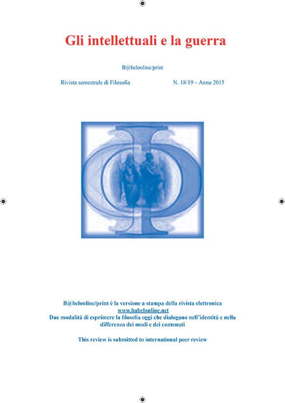 B@belonline vol. 18/19 Gli intellettuali e la guerra