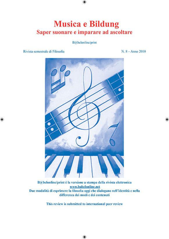 B@belonline vol. 8 Musica e Bildung. Saper suonare e imparare ad ascoltare