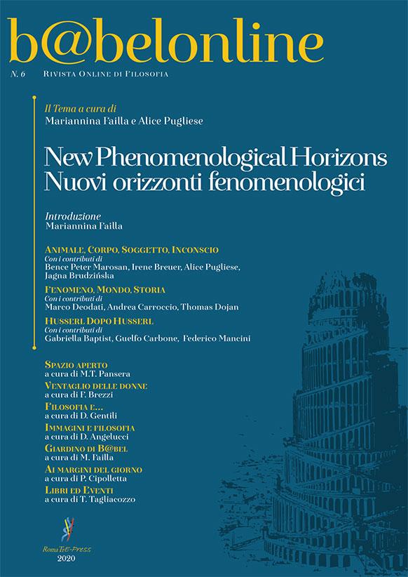 B@belonline vol. 6 Nuovi orizzonti fenomenologici