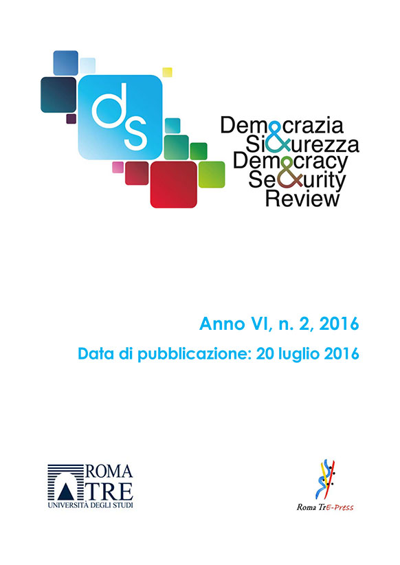 Democrazia e Sicurezza - 2016, n. 2