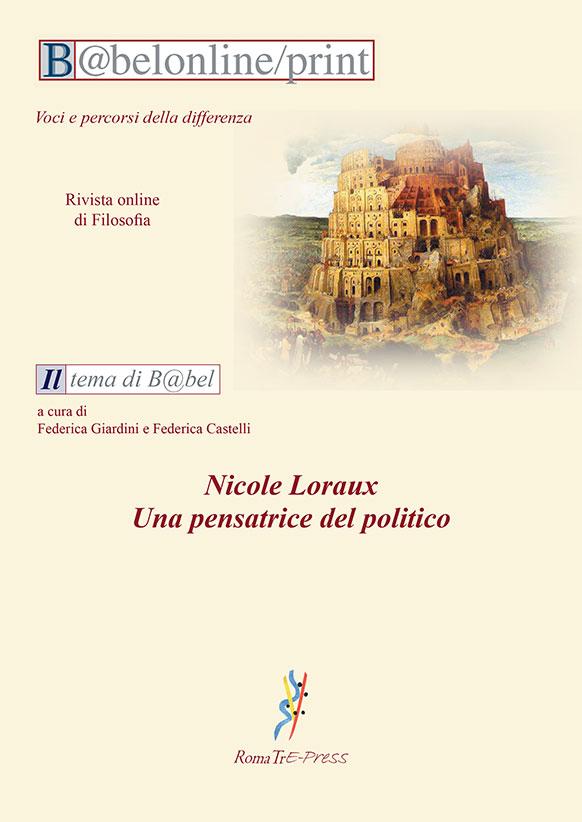 B@belonline vol. 3 Nicole Loraux. Una pensatrice del politico