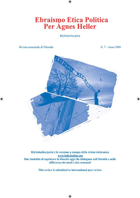 B@belonline vol. 7 Ebraismo Etica Politica. Per Ágnes Heller