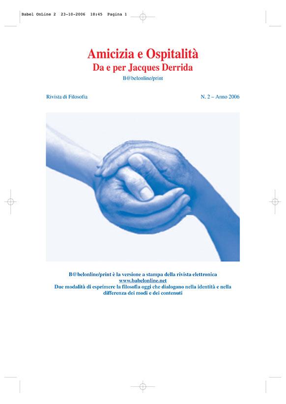 B@belonline vol. 2 Amicizia e Ospitalità. Da e per Jacques Derrida