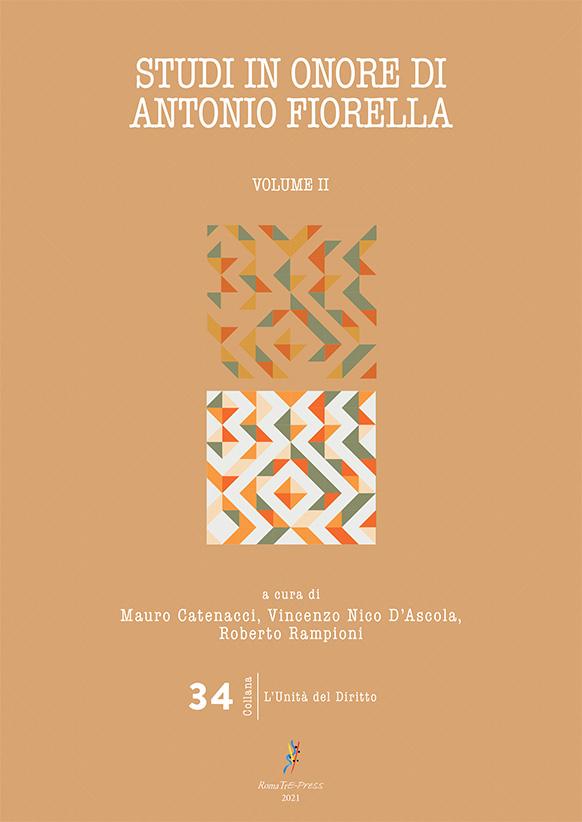 Studi in onore di Antonio Fiorella (volume II)